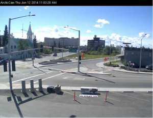 <p>The keyboard is shown in the parking lot of the Fairbanks Daily News-Miner in this screenshot taken from the Arctic Cam, http://www.newsminer.com/arctic_cam.</p>