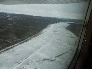 Yukon River ice near Stevens Village