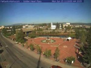 2015 June 15 Fairbanks Summer Solstice sun Timelapse
