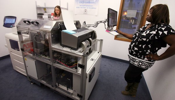 University of Alaska Fairbanks unveils book-making machine