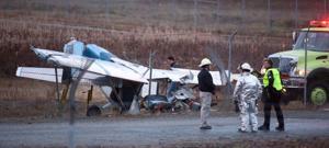 Small plane crash at Fairbanks International Airport