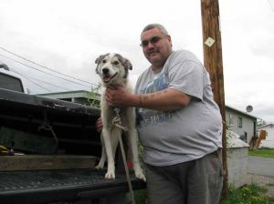 Dog brutally beaten by Fairbanks man joyfully reunited with owner