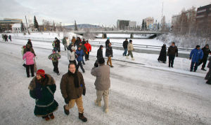 New bridge officially opens in downtown Fairbanks