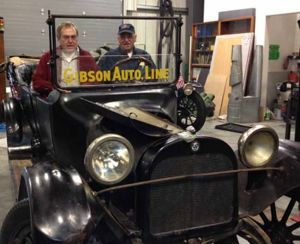 Vintage vehicles readied for official crossing of new bridge