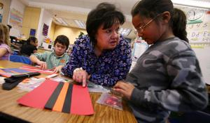 Denali students try their hands at replicating Native parka trim