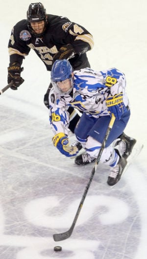 Nanooks icers roll to 6-1 upset of ninth-ranked Western Michigan