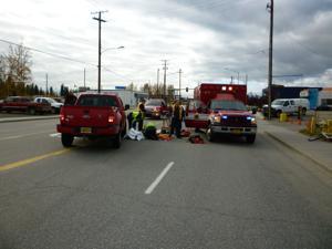 Cyclist injured in Fairbanks bike-truck collision