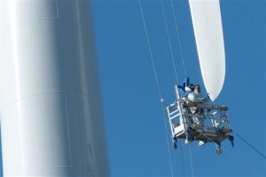 New wind turbines begin turning on Kodiak's Pillar Mountain
