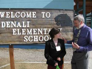 Denali student Myranda Schiff is principal for a day