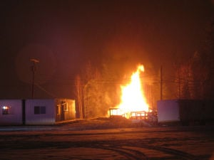 Fairbanks man starts fire to clear 'hoarder house'; whole structure goes up in flames