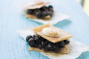 A dessert for blueberry abundance, minus the guilt, fat and calories
