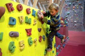 Toddlers 'rock' out at Juneau climbing gym