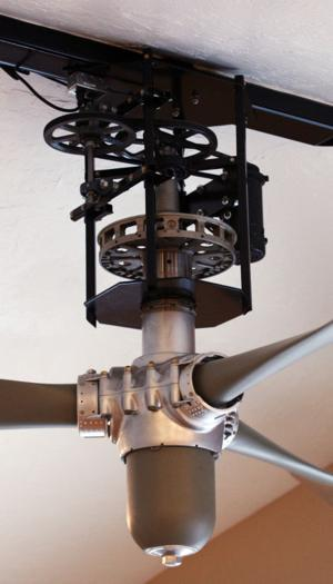 Airplane Ceiling Fan : Pilot makes dc propeller the hub of his chena ridge home