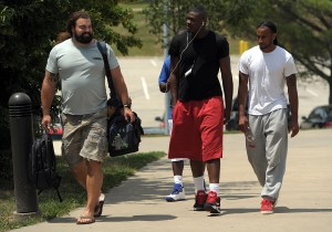 130723_chiefsarrive5: Chiefs rookies report Monday as the 2013 Training Camp gets underway this week. - Todd Weddle | St. Joseph News-Press