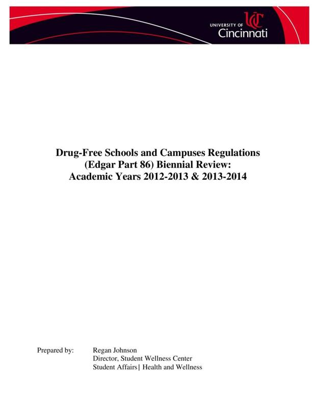 Drug Free Schools And Campuses
