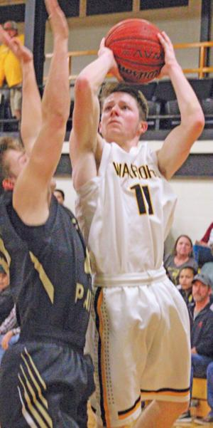 <p>Cherokee County's Colin Edwards goes up strong to the basket against Fort Payne on Saturday. Photo by Shannon Fagan.</p>