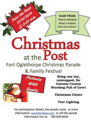 Fort Oglethorpe Christmas parade 2016