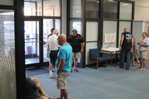 <p>Supporters for Chuck Thaxton and County Commissioner Ray Barber gathered in Cedartown at the Polk County Administration offices to wait for election results in the District 2 primary run-off this evening. </p>