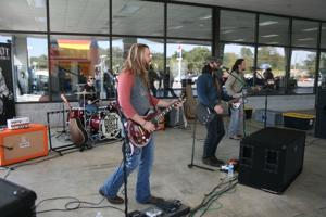 <p>Nashville band Them Dirty Roses played Saturday during the grand opening at Rick Zoerb Ford.</p>