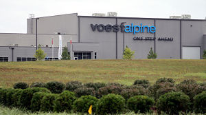 <p><span>The voestalpine facility in the Highland 75 Industrial Park off Cass-White Road, north of Cartersville. (Doug Walker, RN-T.com)</span></p>