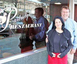<p>Partridge Restaurant owners Angelle and Joel Thornton.</p>