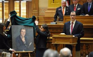 Portrait unveiled in Ga. for AP political reporter