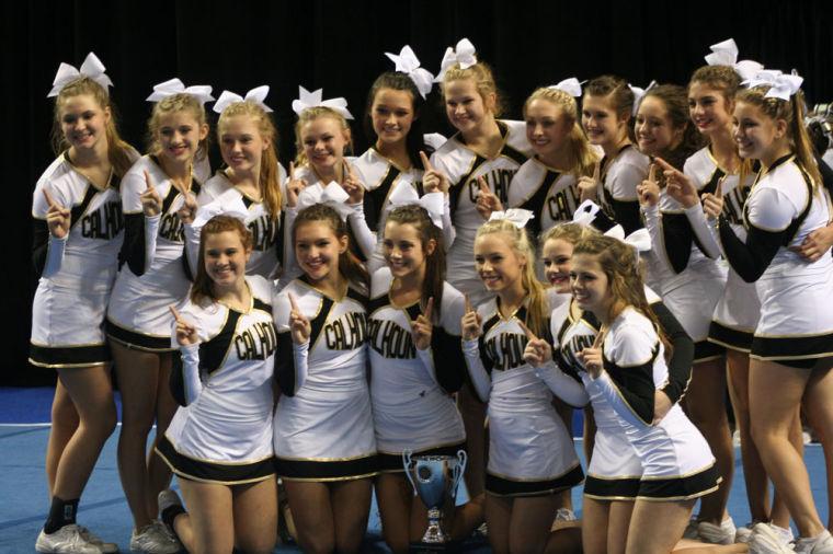 Calhoun competiton cheerleading squad