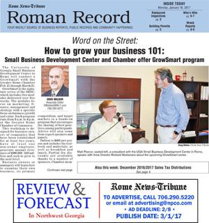 Coming in Monday's Roman Record: GrowSmart, Great Race pit stop