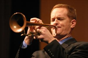 U.S. Army jazz trumpeter playing at Berry College