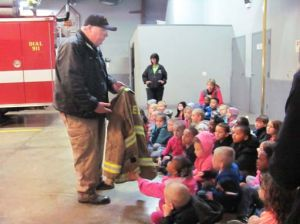 Van Wert students visit local fire department