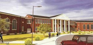 Artist's drawing of new Gordon Lee High School