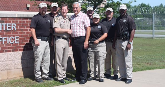 School Official thanks Sheriff for School Resource Officers