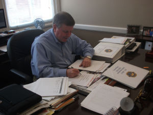 Floyd County finance director Gary Burkhalter