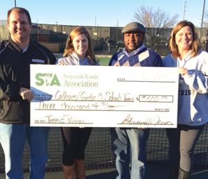 Calhoun receives Sequoyah Tennis Association donation