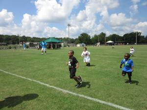 <p>And they're off - This group of 5-and-6-year-old boys led the field for the 40-yard dash at the Youth Summerfest Olympics held in Cedartown Saturday, July 29.</p>