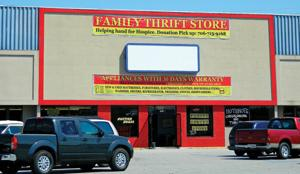 <p>Family Thrift Store is located at 793 Battlefield Parkway in Fort Oglethorpe. (Catoosa News photo/Samantha Ward)</p>
