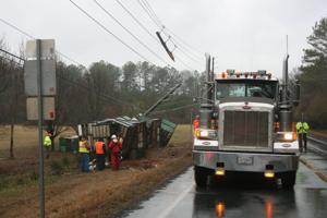 Wreck blocking portion of Highway 100 near Prior Station Road in Cedartown