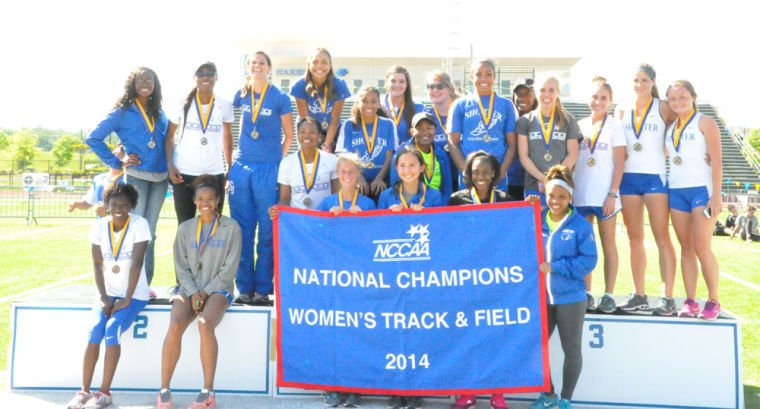 The Shorter women's track and field team