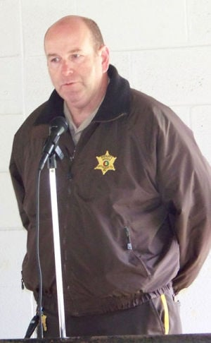 <p>Cherokee County Sheriff Jeff Shaver speaks to a group in this 2014 file photo. (Terry Dean, Cherokee County Herald)</p>