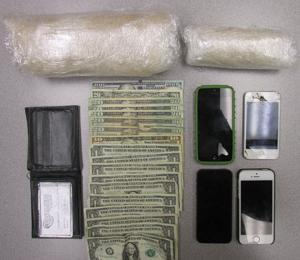 <p>Catoosa County sheriff's deputies confiscated an estimated $30,000 in methamphetamines during a traffic stop in Ringgold Tuesday night, Oct. 21.</p>