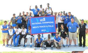 The Shorter men's track and field team