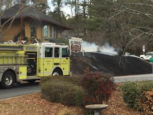 Fire at Rome Visitors Center