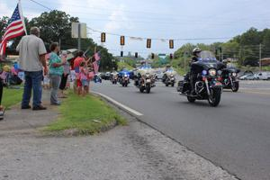<p>The funeral for U.S. Navy Petty Officer 2nd Class Randall Smith began at 2 p.m. on Tuesday, July 28, at First Baptist Church of Fort Oglethorpe, followed by a procession to Chattanooga National Cemetery where he was buried with full military honors at 4 p.m. (Messenger photo/Josh O'Bryant)</p>