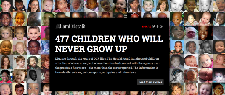 How the Miami Herald told the story of 477 child deaths