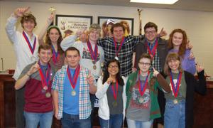 Pepperell's Academic Decathlon team wins third straight title
