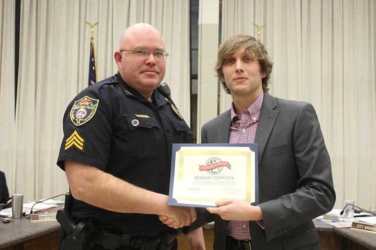 Sgt. Bradley Coppock longevity award