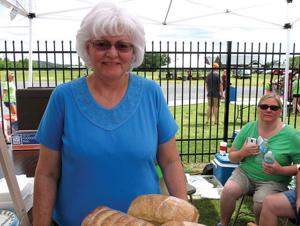<p>Lynda Uren's sour dough breads gave rise to her business, Blue House Bakery. (Catoosa News photo/Tamara Wolk)</p>