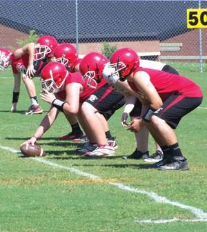Sonoraville offensive line