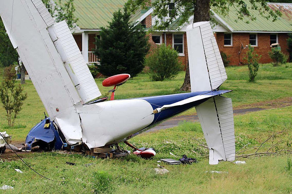Airplane crash