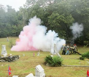 <p>Cannon blasts were just part of the demonstrations at the Van Wert Memorial Service.</p>